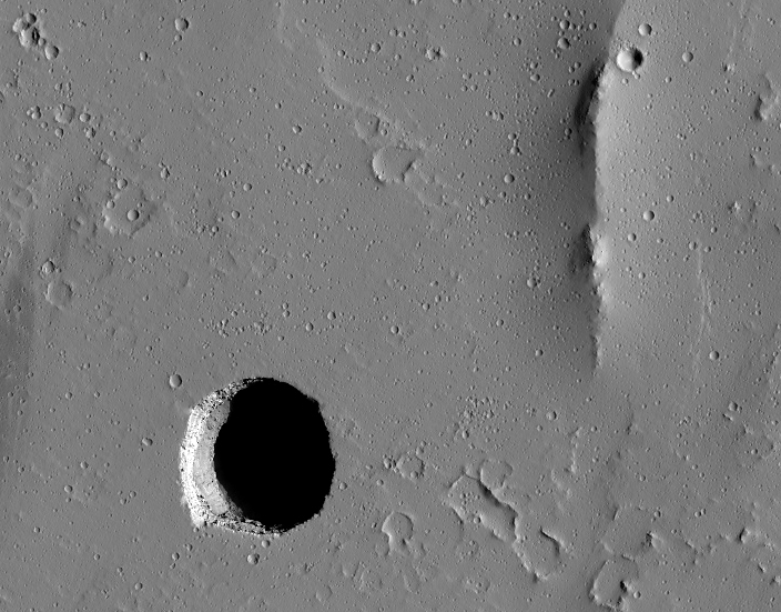Collapse Pit on Mars