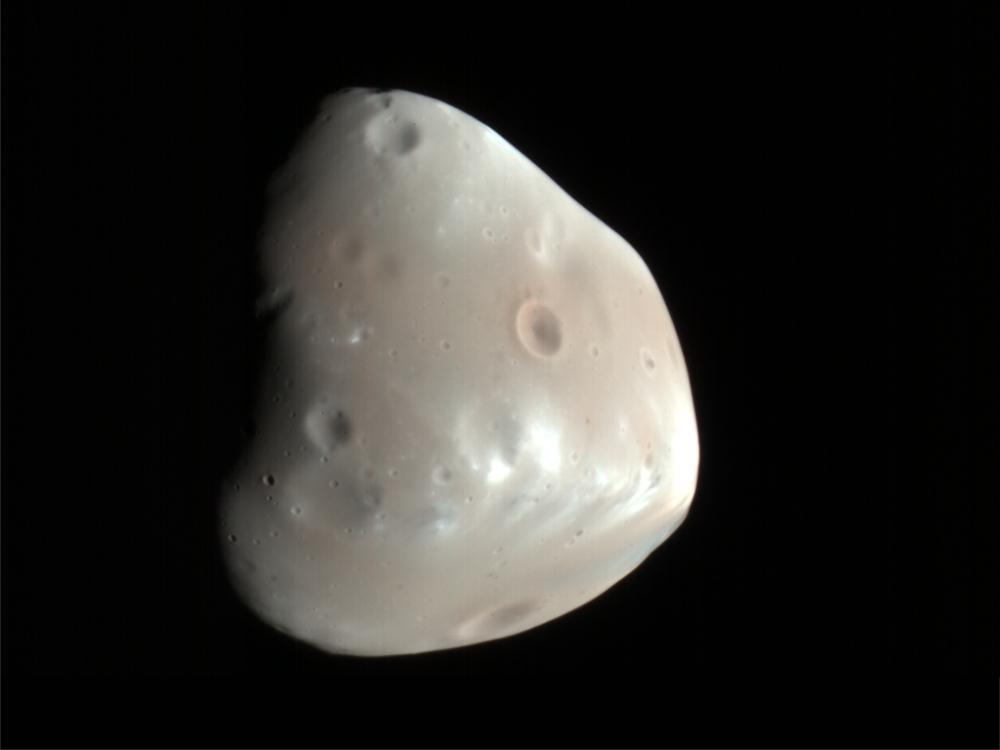 Mars' Smaller Moon Deimos
