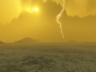 Artist's concept of Venus's forbidding surface. (ESA/MPS/DLR/IDA)