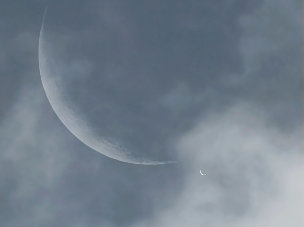 Moon and Venus on Earth Day, April 22, 2009