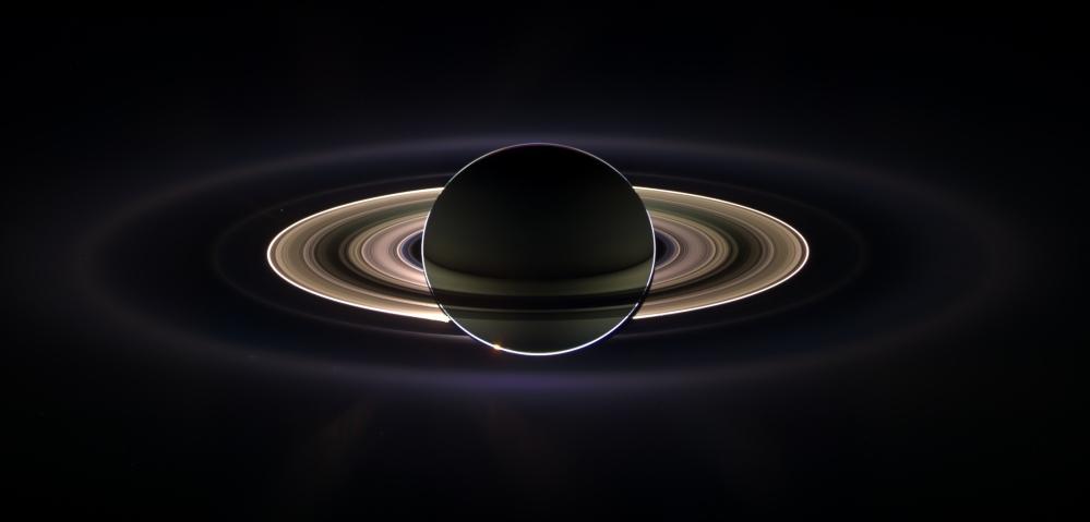 Backlit Saturn