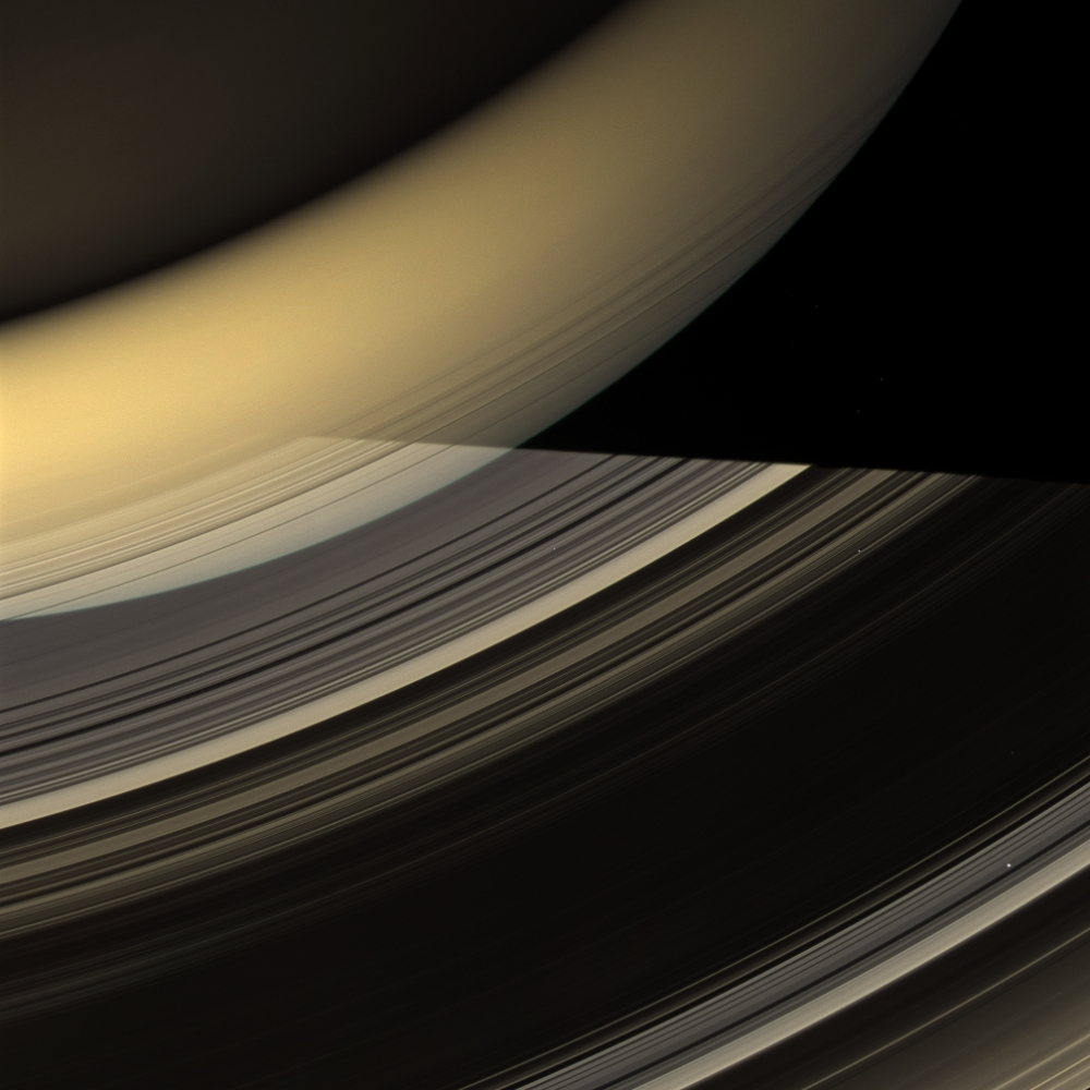 Saturn Casts a Shadow on its Rings