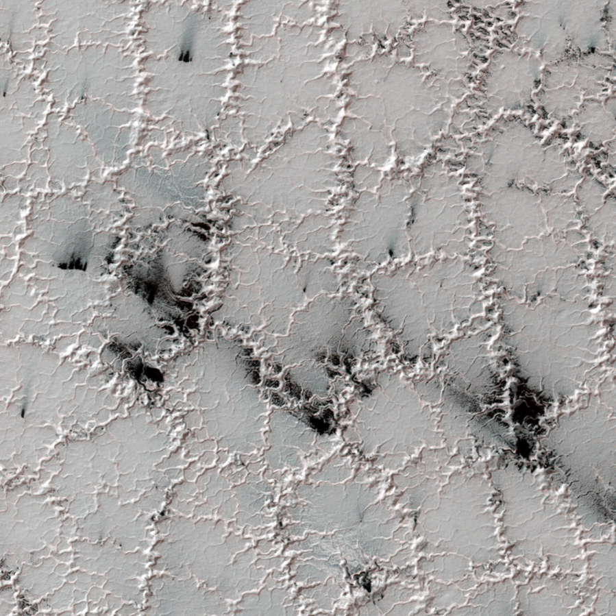 Spider Terrain on Mars