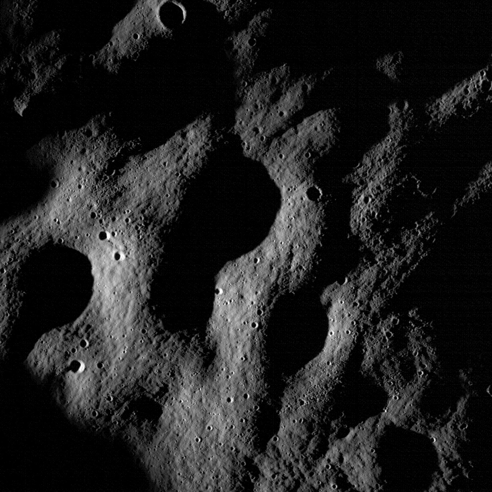 Shadows on Lunar Hills