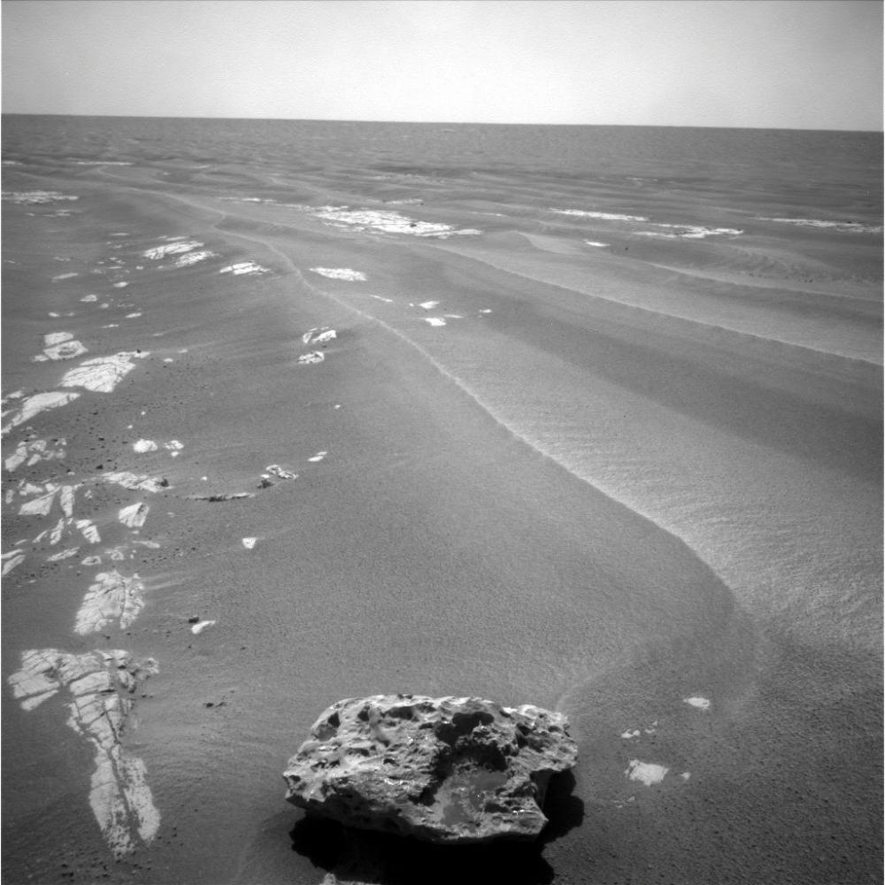 Possible meteorite spotted by Opportunity