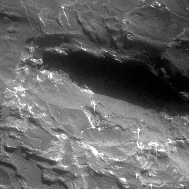 Close-up of newly discovered meteorite on Mars