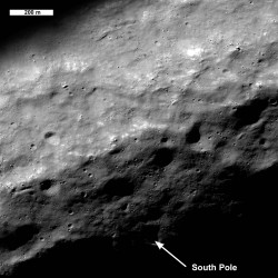 Moon's South Pole (LRO)
