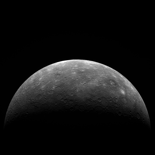 MESSENGER's latest image of Mercury