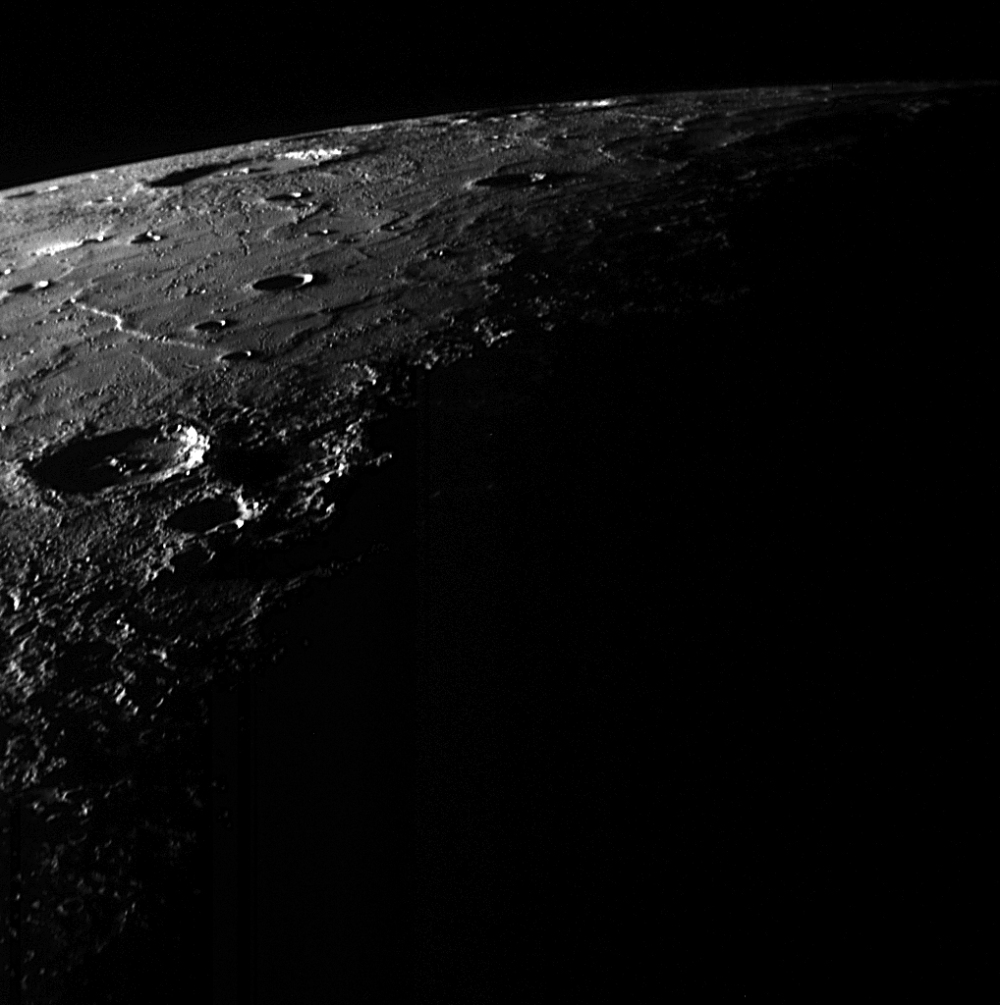 The rugged surface of Mercury