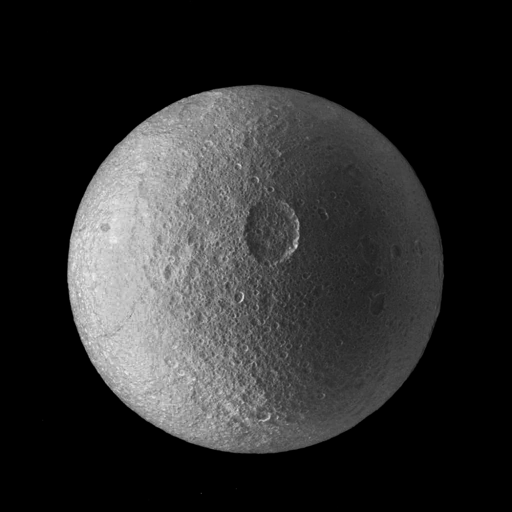 The cratered face of Tethys