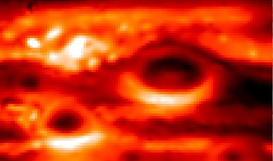 Infrared image of the Great Red Spot