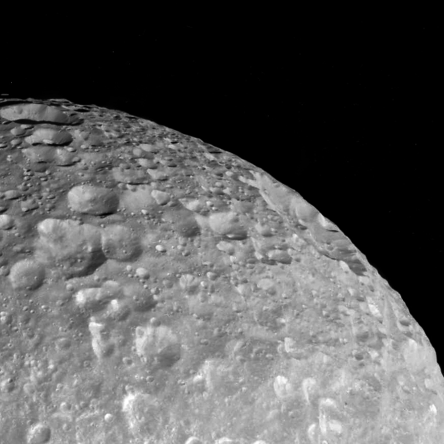 Mimas' many craters
