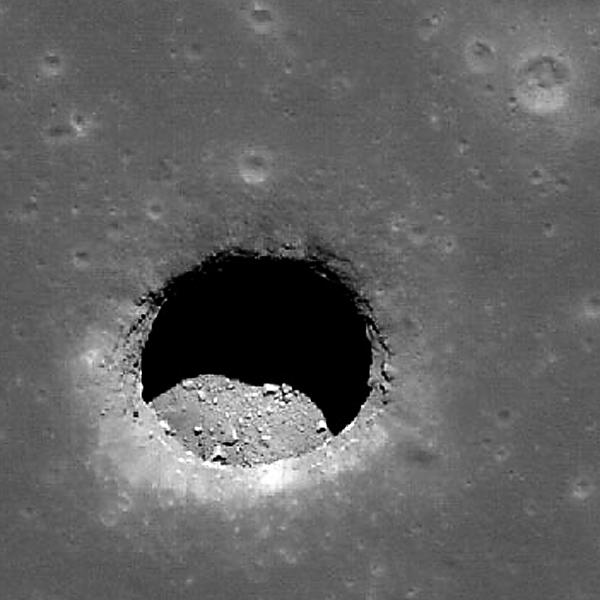 Lunar Pit Crater