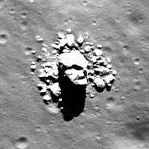 nasa satellite spots creepy face on the moon