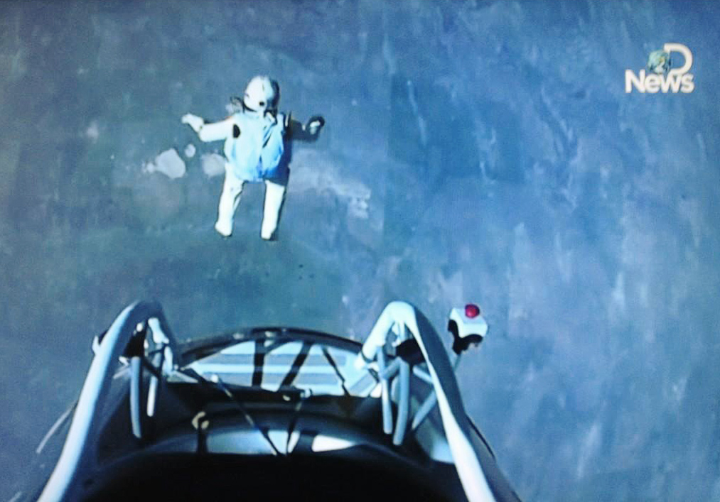 jumping astronaut in space - photo #26
