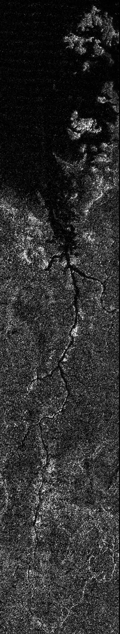 River system on Titan. (NASA/JPL-Caltech/ASI)