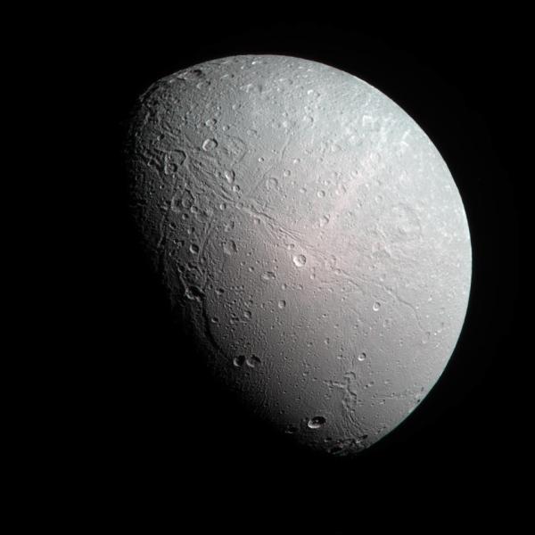 Color-composite of Dione (NASA/JPL/SSI/J. Major)