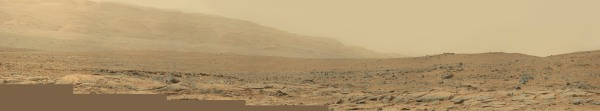 Panorama of MSL Mastcam images captures on Dec. 23, 2012