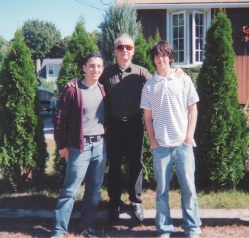 Me and my brother Corey with our dad several years ago