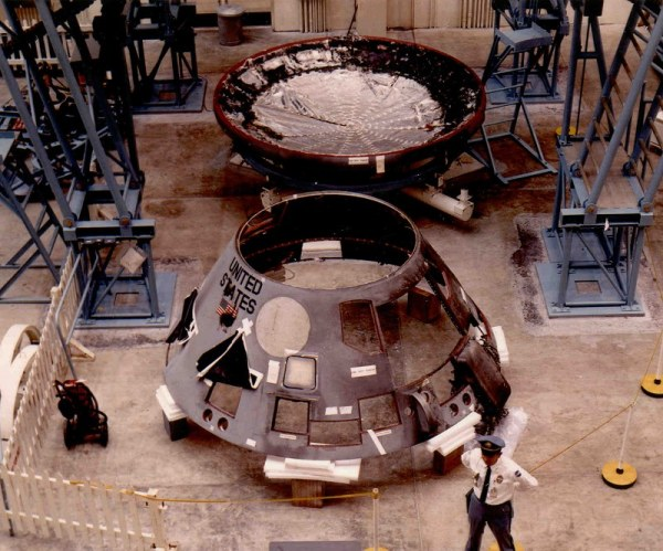 The disassembled Apollo CM after the fire (NASA/John Duncan)
