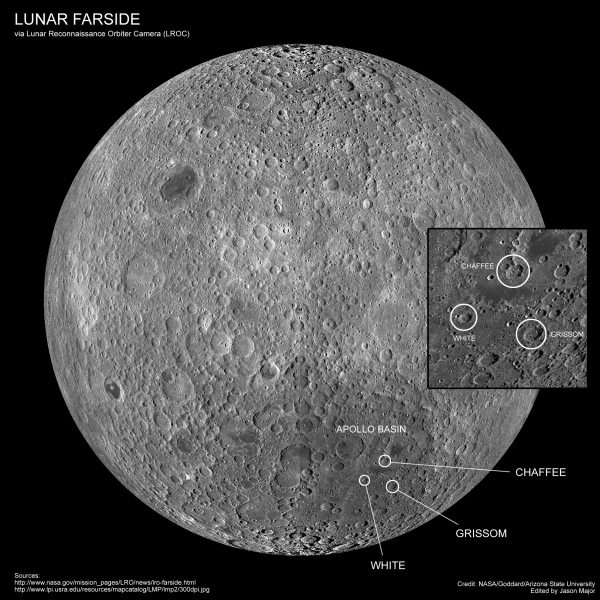 Lunar farside map made from over 15,000 LROC wide-angle camera images. Credit: Credit: NASA/Goddard/Arizona State University. Edit by Jason Major.