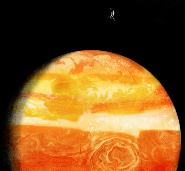 Voyager passes by Jupiter