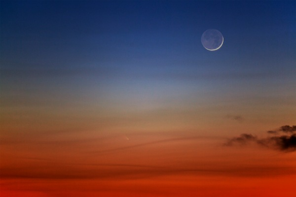 Comet Pan-STARRS captured by Dr. Travis Rector from Alaska on 12 March 2013