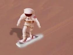 Dry-iceboarding on Mars?