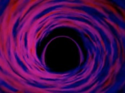 A black hole's event horizon is the inescapable boundary where all trajectories, including those of light, must go inward. (NASA/GSFC)