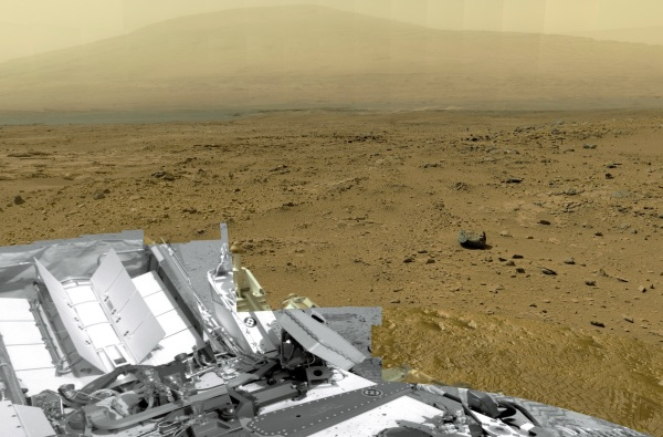 Section of the first NASA-produced gigapixel image from Mars (NASA/JPL-Caltech/MSSS)
