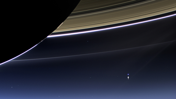 "Earth is just a ""pale blue dot"" from Saturn"