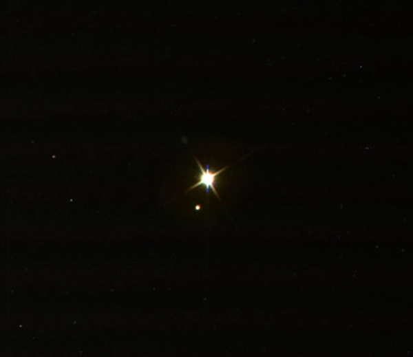 Earth and the Moon as seen by Cassini on July 19, 2013 (NASA/JPL-Caltech/SSI/J. Major)