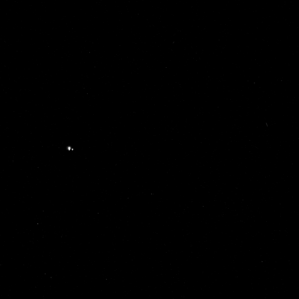Earth and Moon from Mercury (via MESSENGER)