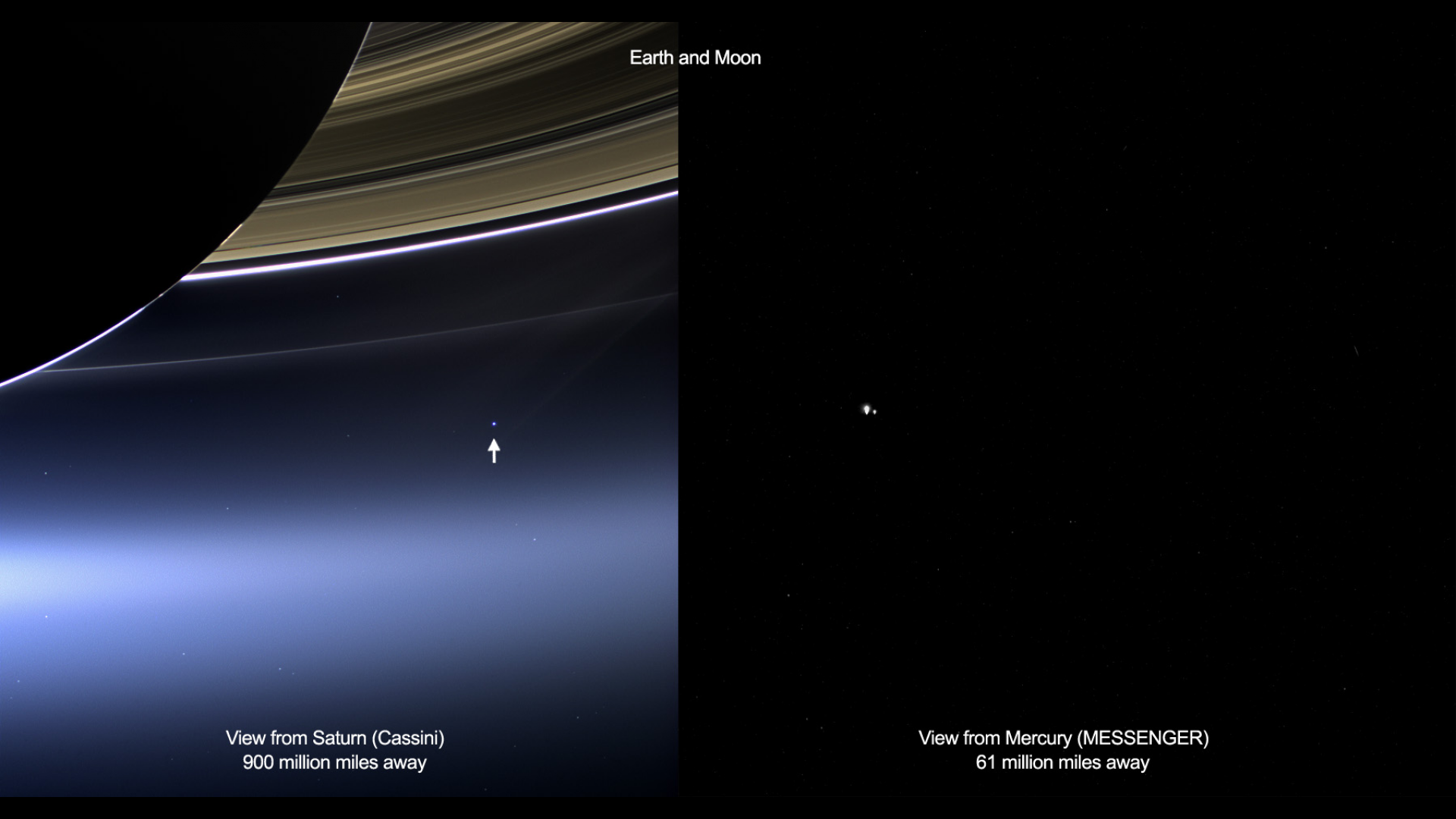 Incredible Images Of Earth From Saturn And Mercury Lights In The Dark