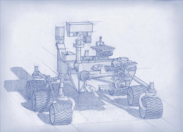 Structural concept for NASA's 2020 Mars rover... look familiar? (NASA/JPL-Caltech)