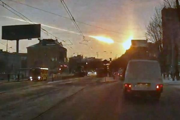 Dashboard cameras captured footage of the Chelyabinsk meteor from all across the city
