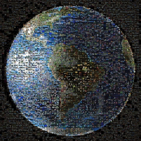 1400-image mosaic of Earthlings waving at Saturn on July 19, 2013 (NASA/JPL)