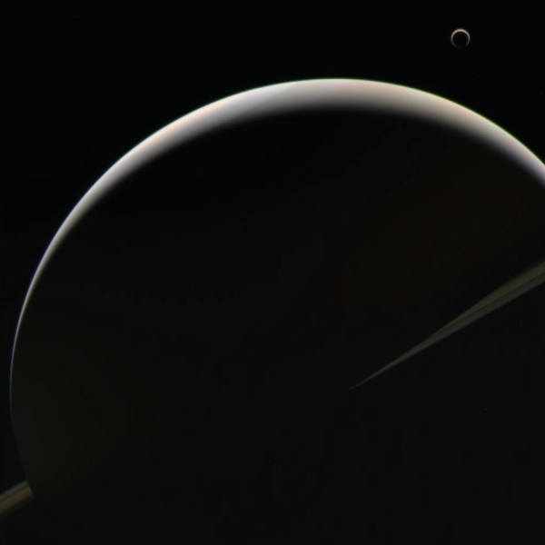 Color-composite made from raw Cassini images acquired on August 10, 2013.