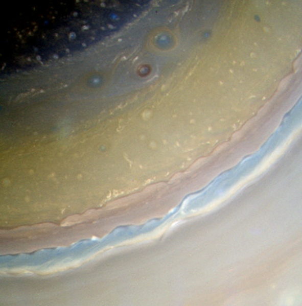 Color-composite image of Saturn's varied cloud bands (NASA/JPL/SSI. Composite by Jason Major)