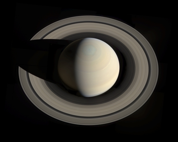 RGB mosaic image of Saturn from Cassini images acquired on Oct. 10, 2013. By Gordan Ugarkovic.