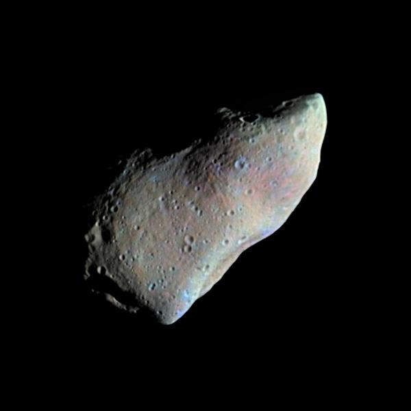Color mosaic of asteroid Gaspra (NASA/JPL)