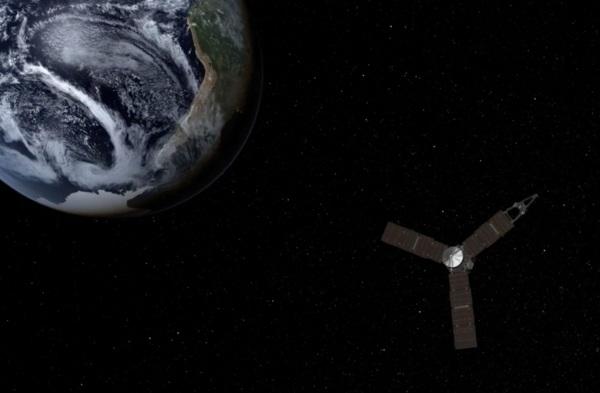 Juno will fly by Earth on October 9, 2013 (NASA/JPL)