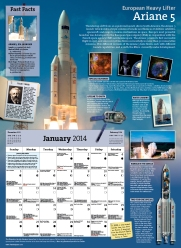 Each month features a different space theme along with 5 metric tons of info. (I measured.)
