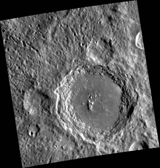 Mercury's Lennon crater as seen from NASA's MESSENGER spacecraft. Image Credit: NASA/Johns Hopkins Applied Physics Lab/Carnegie Institution