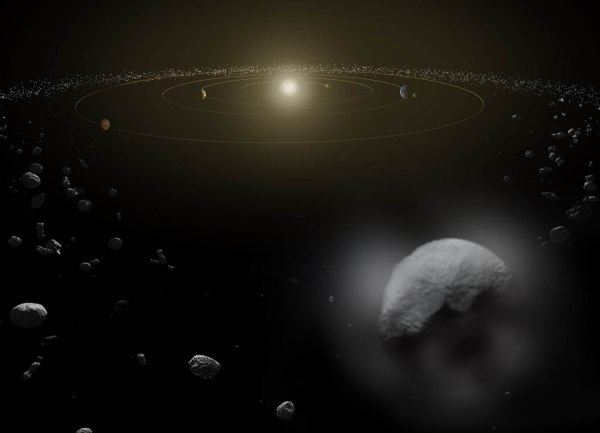 Artist's interpretation of Ceres, the largest object in the main asteroid belt. (NASA/JPL-Caltech)