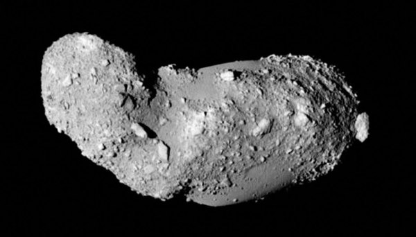 Image of Itokawa acquired by the Japanese Hayabusa mission in 2005 (JAXA)