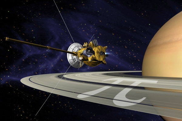 Cassini couldn't have orbited Saturn these past ten years without pi!