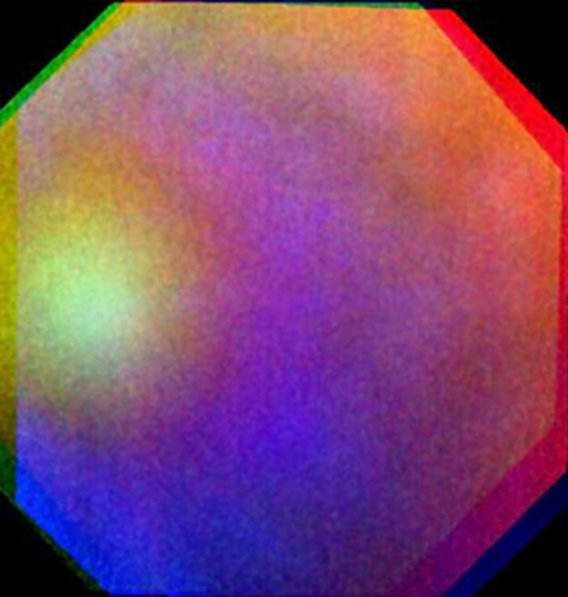 "A rainbow-colored ""glory"" in Venus' atmosphere seen by ESA's Venus Express"