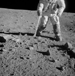 Rock collecting during Apollo 12 (NASA photo)