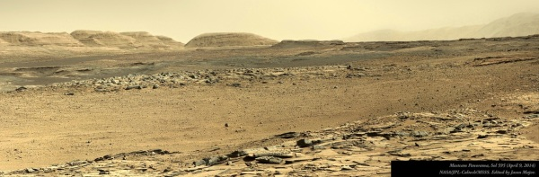 Panorama of Mars I made from images acquired on April 9, 2014